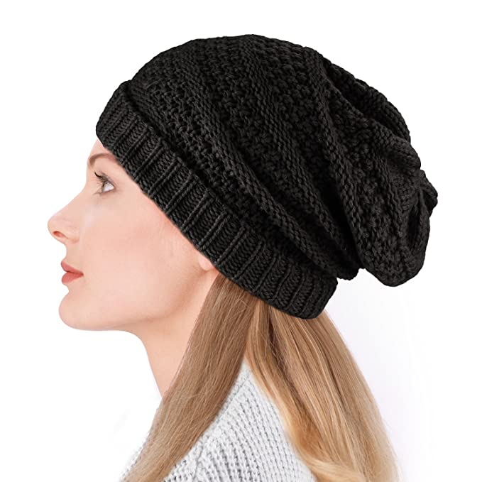 Dafunna Gorro de Invierno Unisex Crochet Gorro de punto Elástico de lana  Tejer Beanie casquillos calientes para Hombre Mujer  Amazon.es  Ropa y  accesorios c9532dd27c9
