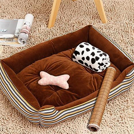 MONEYY cuarta Trimestre Pet Dog Wo 4 Piezas Conjunto colchón Cama Perro en Bruto pequeña y