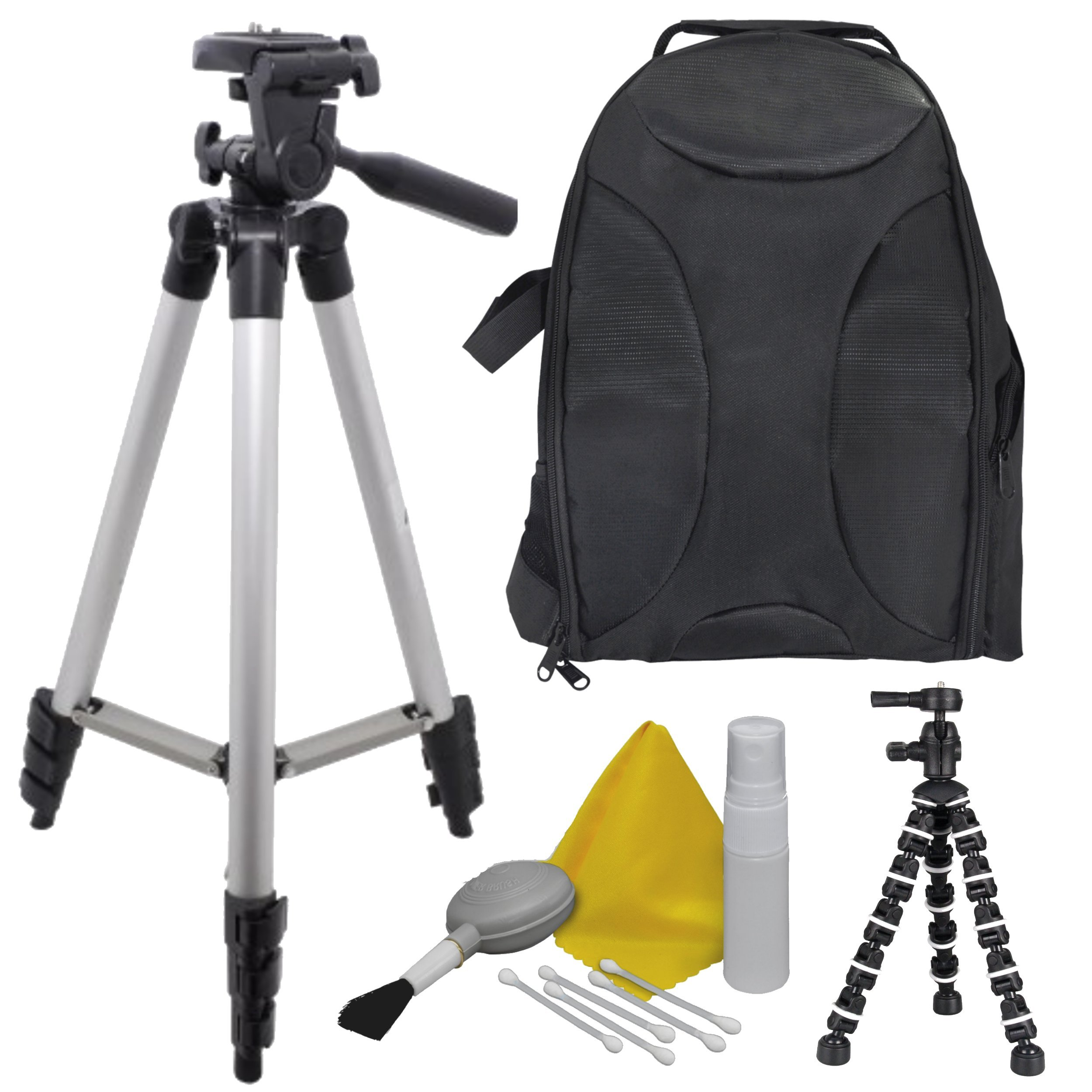 EXTREME FUN: Camera Accessory Kit for Canon PowerShot SX500 IS Bundle Includes: Back Pack - 50'' Elite Tripod - Camera Cleaning & Maintenance Equipment - 8'' BendiPod, Shop Smart!