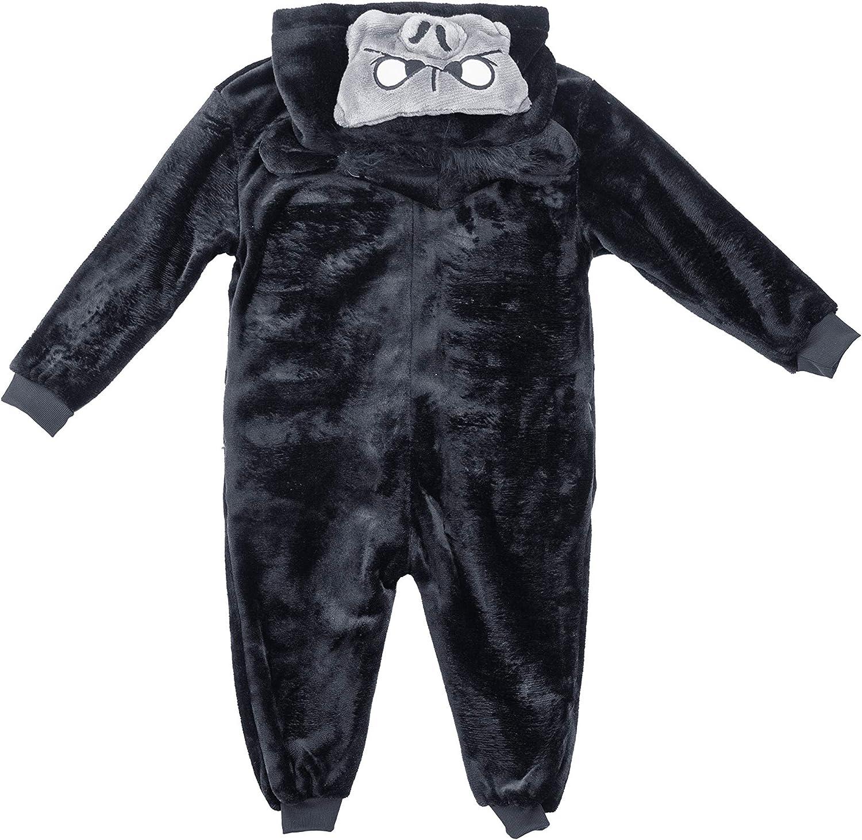 Pijama con capucha para niños y niñas, diseño de dinosaurio, tiburón, gorila