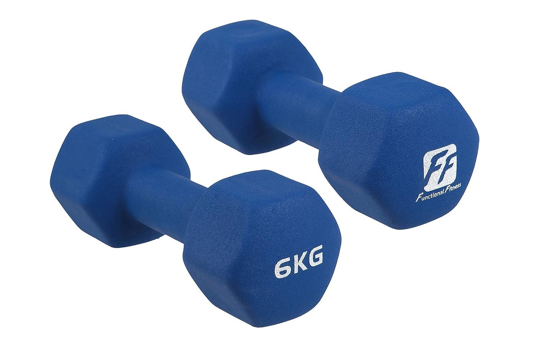 functionalfitness Neo Hex mancuernas par - 2 x 6 kg: Amazon.es: Deportes y aire libre