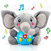 STEAM Life Plush Elephant Baby Toys - Educational Baby Toy - Musical Toy for Baby 0 to 36 Months - Baby Light Up Toys - Educational Musical Toys for Infants Babies Toddlers 0 3 6 9 12 month (Elephant)