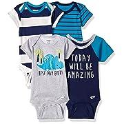200c120ba84 Gerber Baby Boys  5 Pack Variety Bodysuits