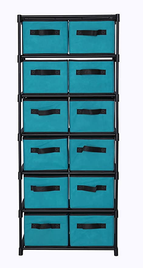 Genial MULSH 12 Drawer Storage Chest Shelf Storage Cabinet Organizer Units With 12  Removable Non