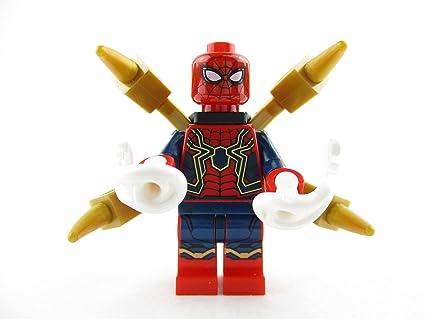 Marvel Avengers Infinity War Minifig LEGO 76108 IRON SPIDER SPIDER-MAN Figure