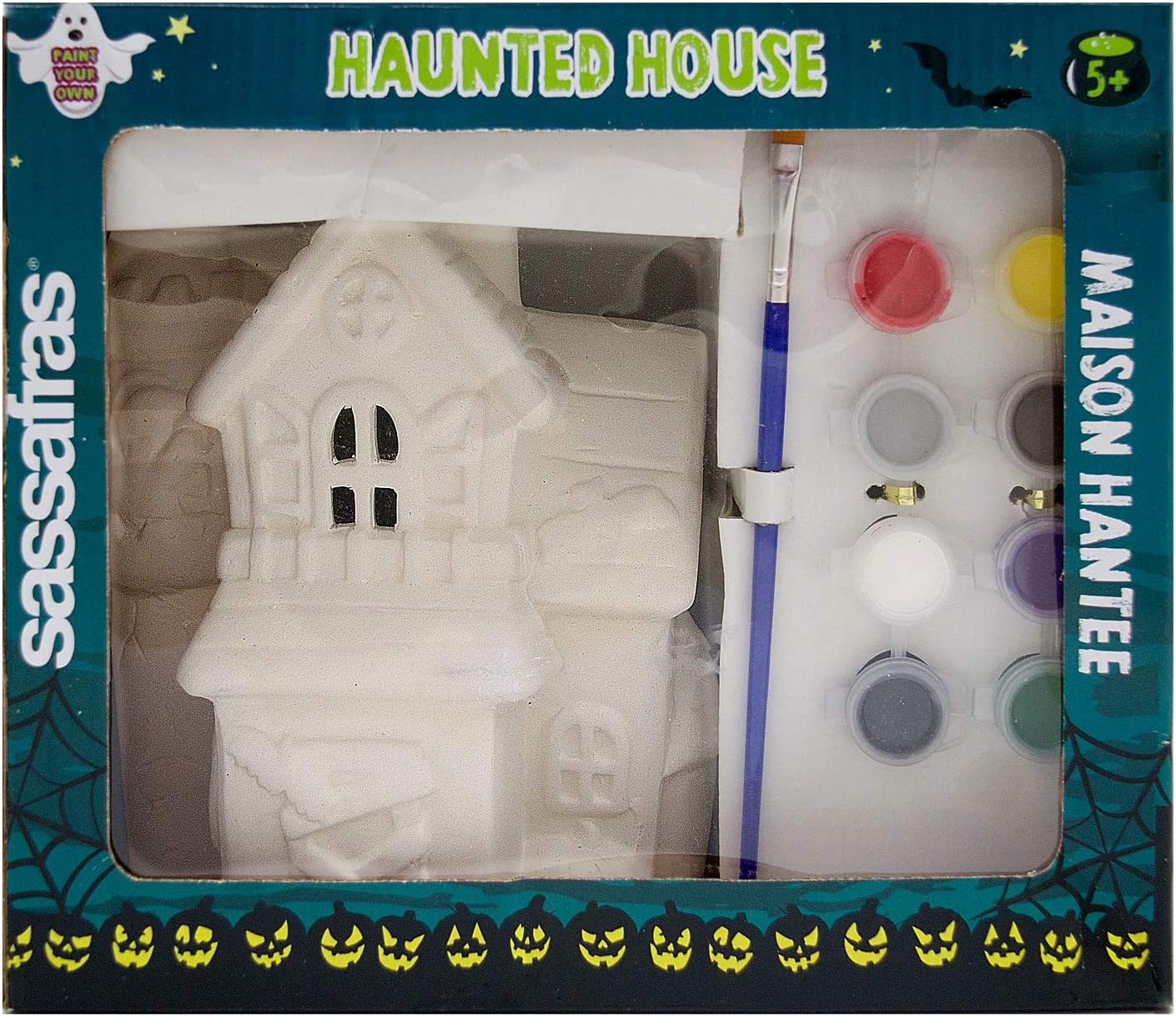 Sassafras Paint Your Own Haunted House Ceramic Set