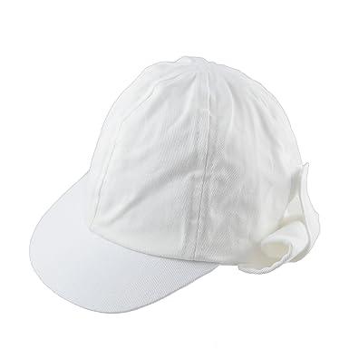d80d8d9dbee Pesci Baby Boys Girls Summer Legionnaire Sun Hat Roll Up Neck Flap White (2-