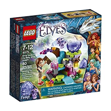 LEGO Elves Emily Jones and The Baby Wind Dragon Playset 41171 ...