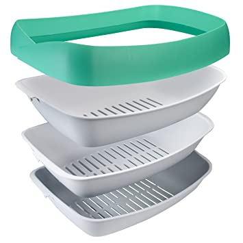 Luuup Litter Box - 3 Sifting Tray Cat Litter Box is Antimicrobial and Easy to Clean  sc 1 st  Amazon.com & Amazon.com : Luuup Litter Box - 3 Sifting Tray Cat Litter Box is ... Aboutintivar.Com