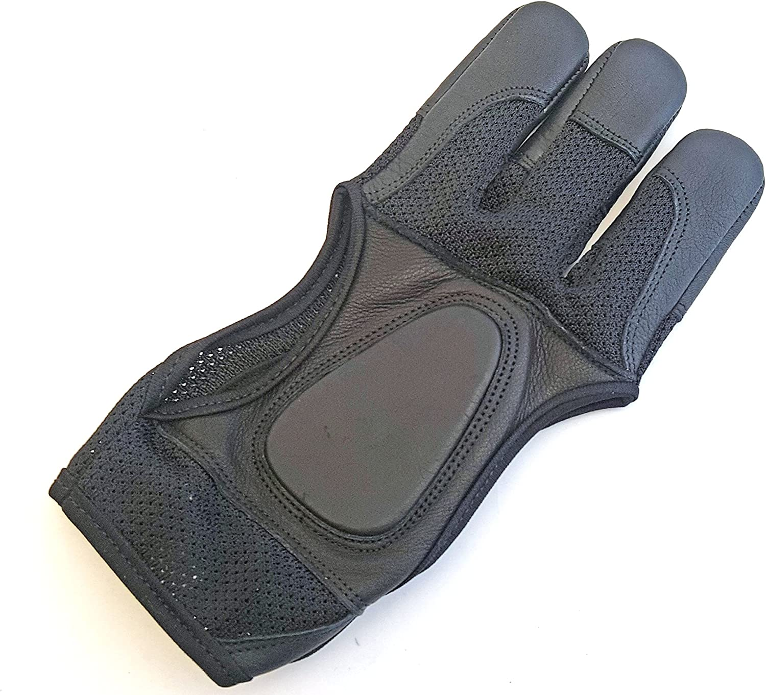 starlingukp Quality Traditional Genuine Leather Archery Gloves Full Tip Shooting Gloves.