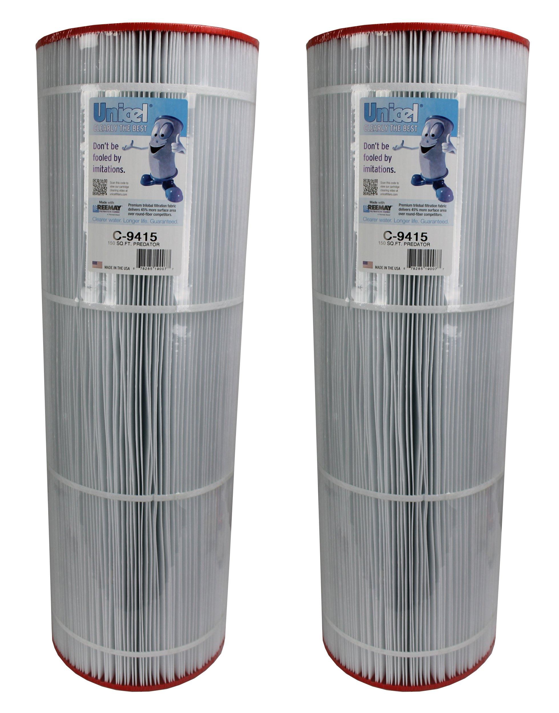 2) Unicel C-9415 Pentair Predator Clean & Clear 150 Pool Filter Cartridges C9415