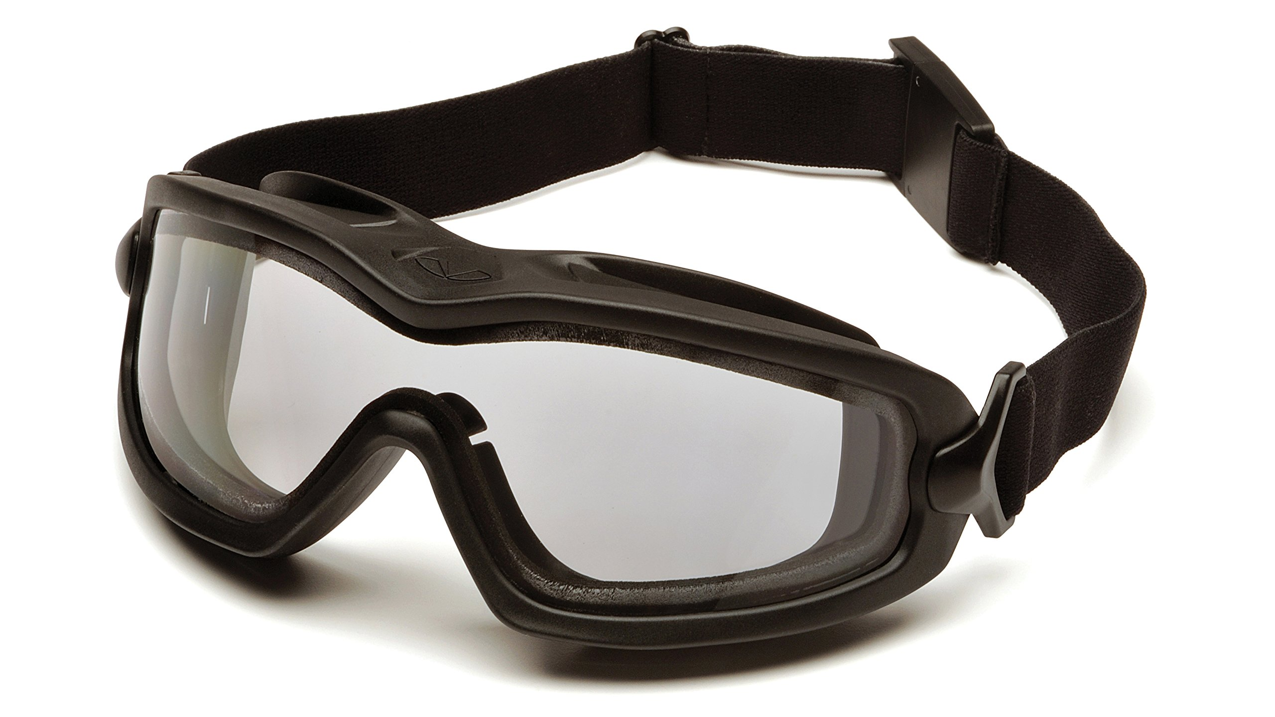 Pyramex V2G Safety Goggles with Adjustable Strap, Black Frame, Dual Clear H2X Anti-Fog Lens by Pyramex Safety (Image #2)