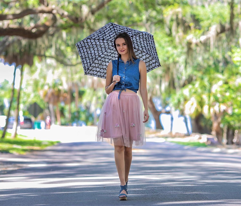 Betsey Johnson Designer Travel Umbrella Back Stage Rose