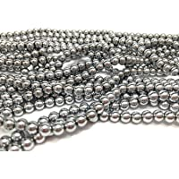 jennysun2010 Natural Non-Magnetic Hematite Gemstone Round Ball Beads 16'' Metallic 2mm 3mm 4mm 5mm 6mm 7mm 8mm 9mm 10mm 12mm for Bracelet Necklace Earrings Jewelry Making Crafts Design Healing