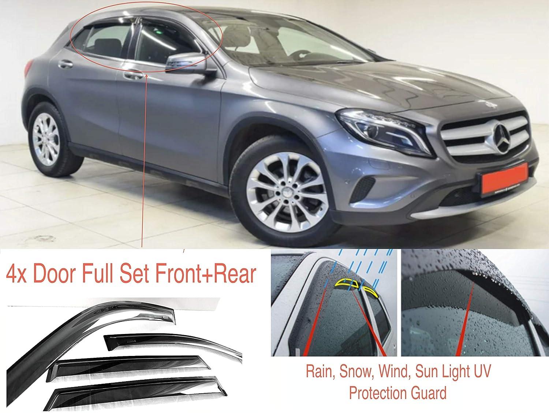 4 deflettori d/'Aria compatibili con Mercedes Benz Classe GLA X156 2013 2014 2015 2016 2017 2018 2019 2020 in Poi AC WOW