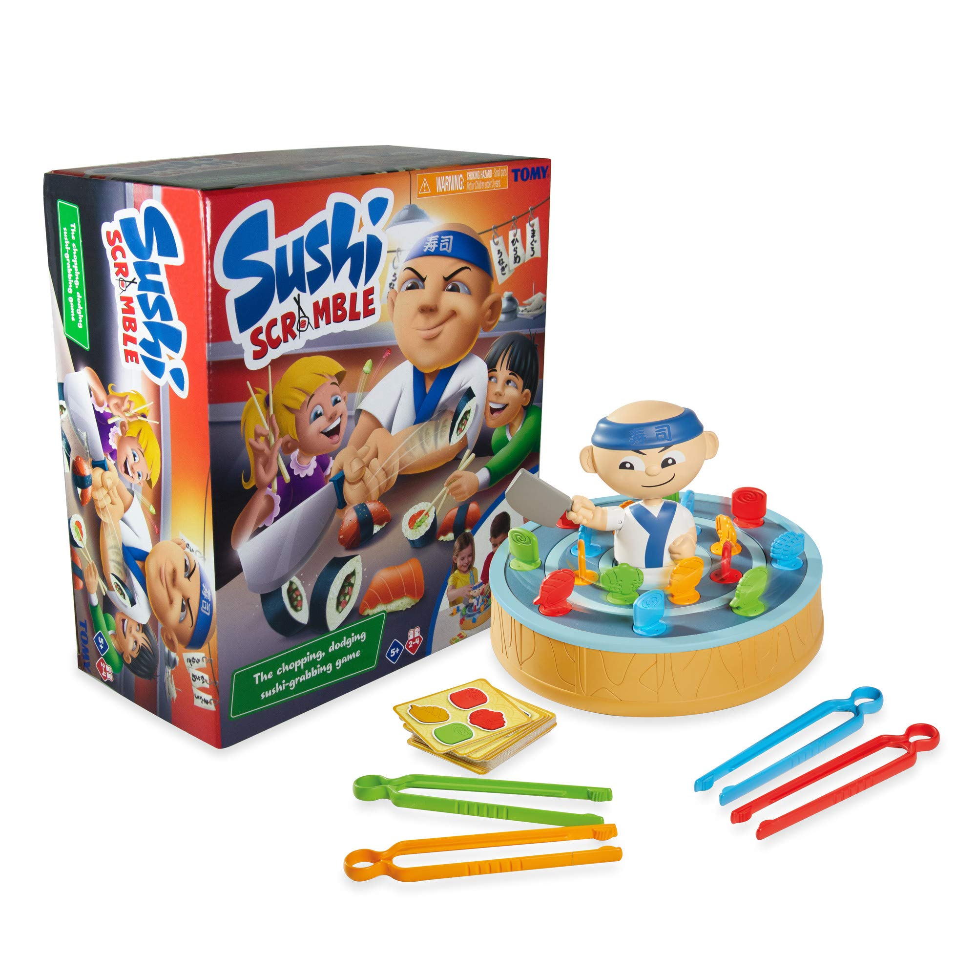 TOMY Sushi Scramble Kids Action Board Game | Preschool Family Board Games For Kids | Children Game Suitable for Ages 5 6 7 8+ Years
