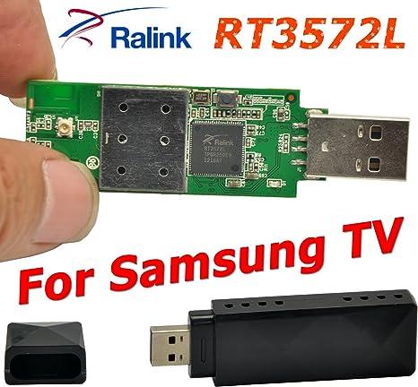 Ralink RT3572L 802.11 ac 600 Mbps USB WiFi adaptador Wifi Dongle Adaptador inalámbrico antena interna para Samsung TV: Amazon.es: Electrónica