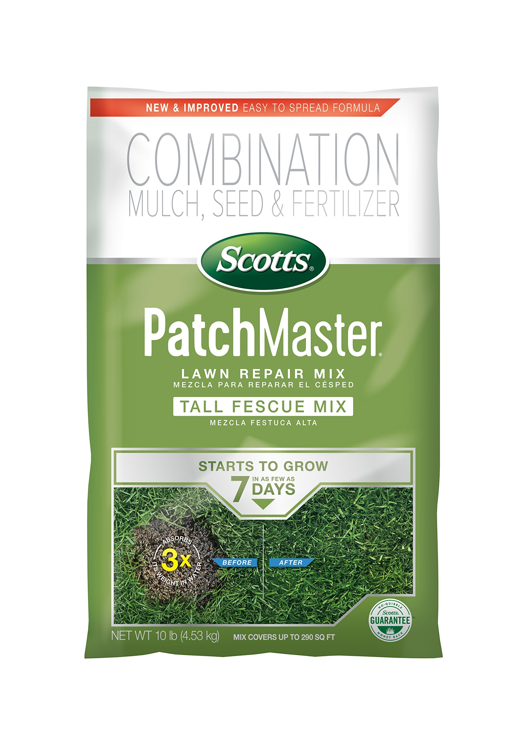 Scotts 14901 PatchMaster Lawn Repair Tall Fescue Mix-290 sq. ft, 10 LB