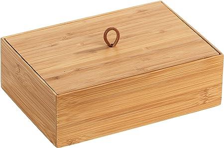Wenko 23924100 Terra L - Caja de bambú con Tapa (22 x 7 x 15 cm ...