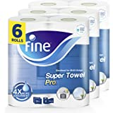 Fine, Paper Towel - Super Pro, Sterilized, 70 Sheets x 3 Ply, pack of 6 rolls