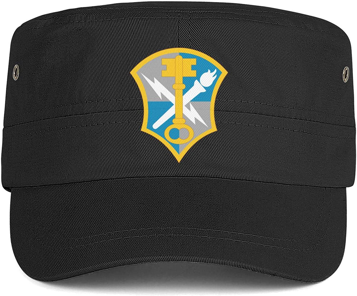 United States Army Intelligence and Security Logo Army Cap Cadet Corps Hat Military Flat Top Adjustable Baseball Cap Cotton