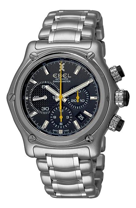 Ebel Men's 9137L72/5360 1911 BTR Black Chronograph Dial Watch