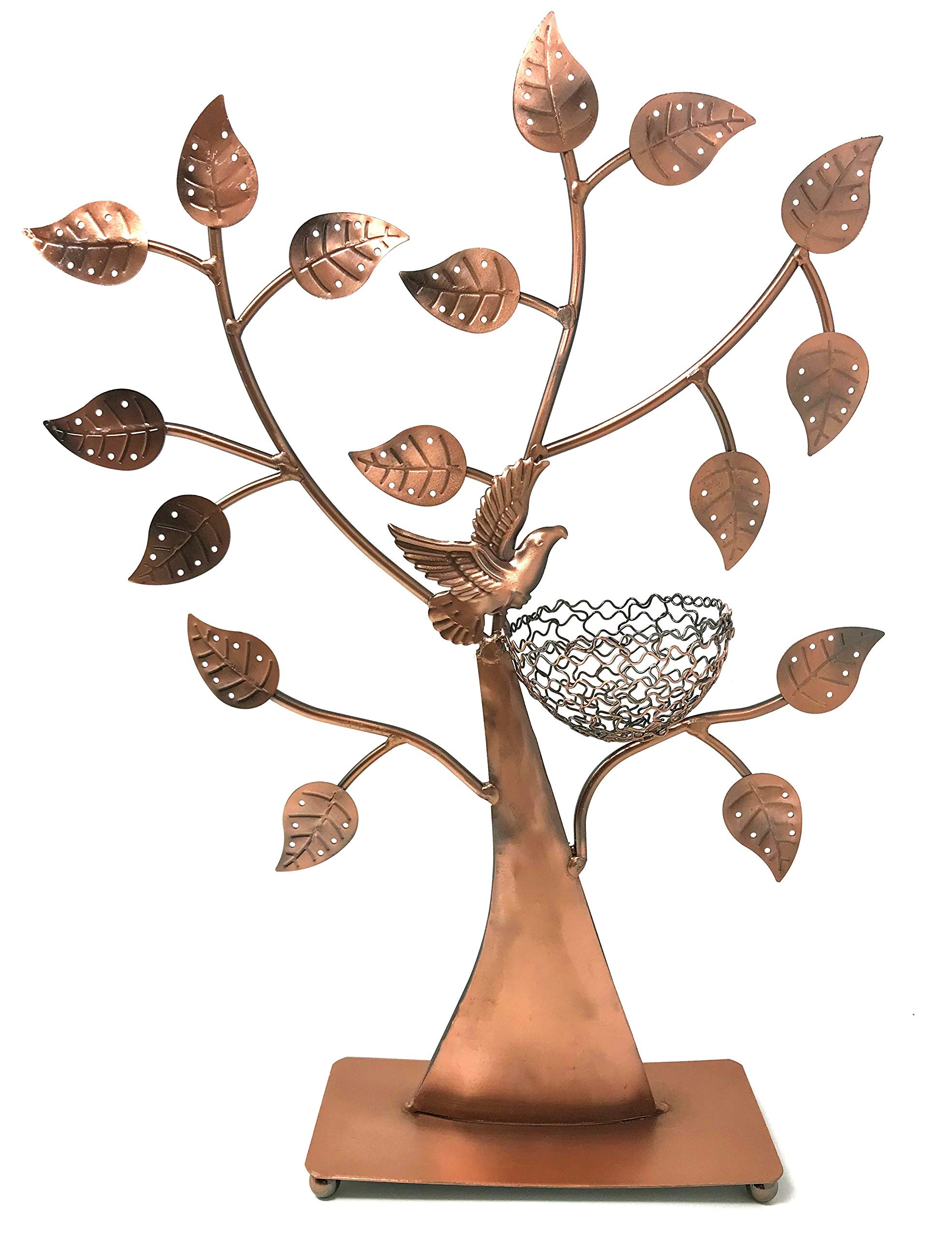 Bird Nest Jewelry Tree Earring Holder~Bracelet Stand~Necklace Organizer Jewelry Display (Bronze) by BJ Display