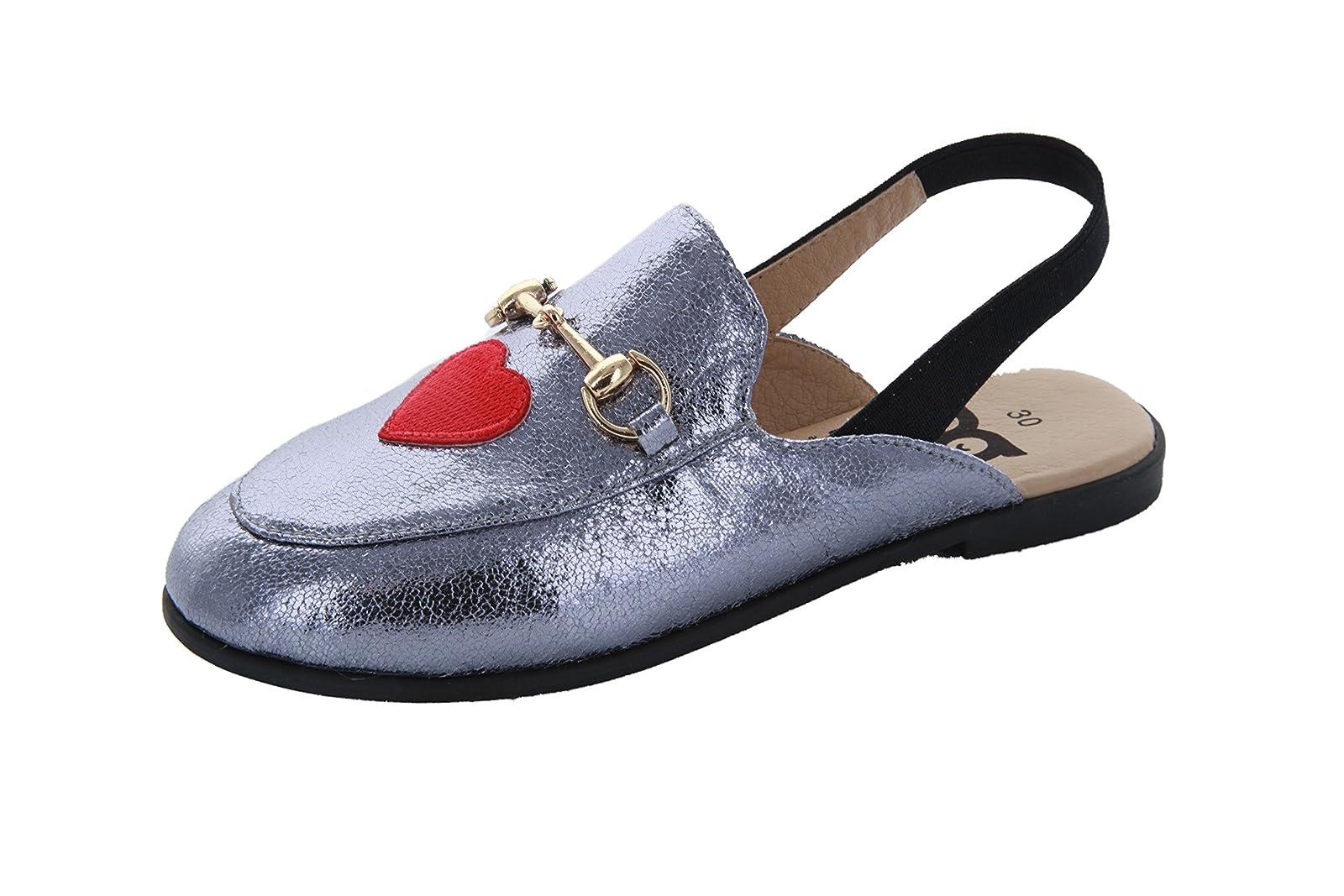 Hoo Shoes - Girls Mule/Slide - Metallic - Fashion - 2