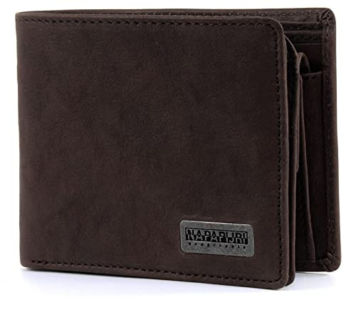 NAPAPIJRI Molde Washed Billfold 8 C/C Coinpocket Dark Brown ...