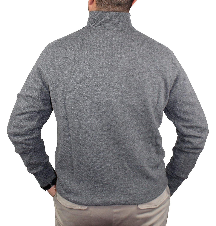 pul/òver Manga Larga Cuello Alto su/éter 1st American 100/% Cashmere para Hombre Jersey 100/% Cachemira Pura