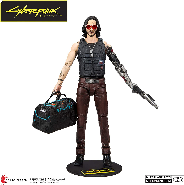 Figura Johnny Silverhand 18 cm, Variante exclusiva, Cyberpunk 2077, McFarlane Toys
