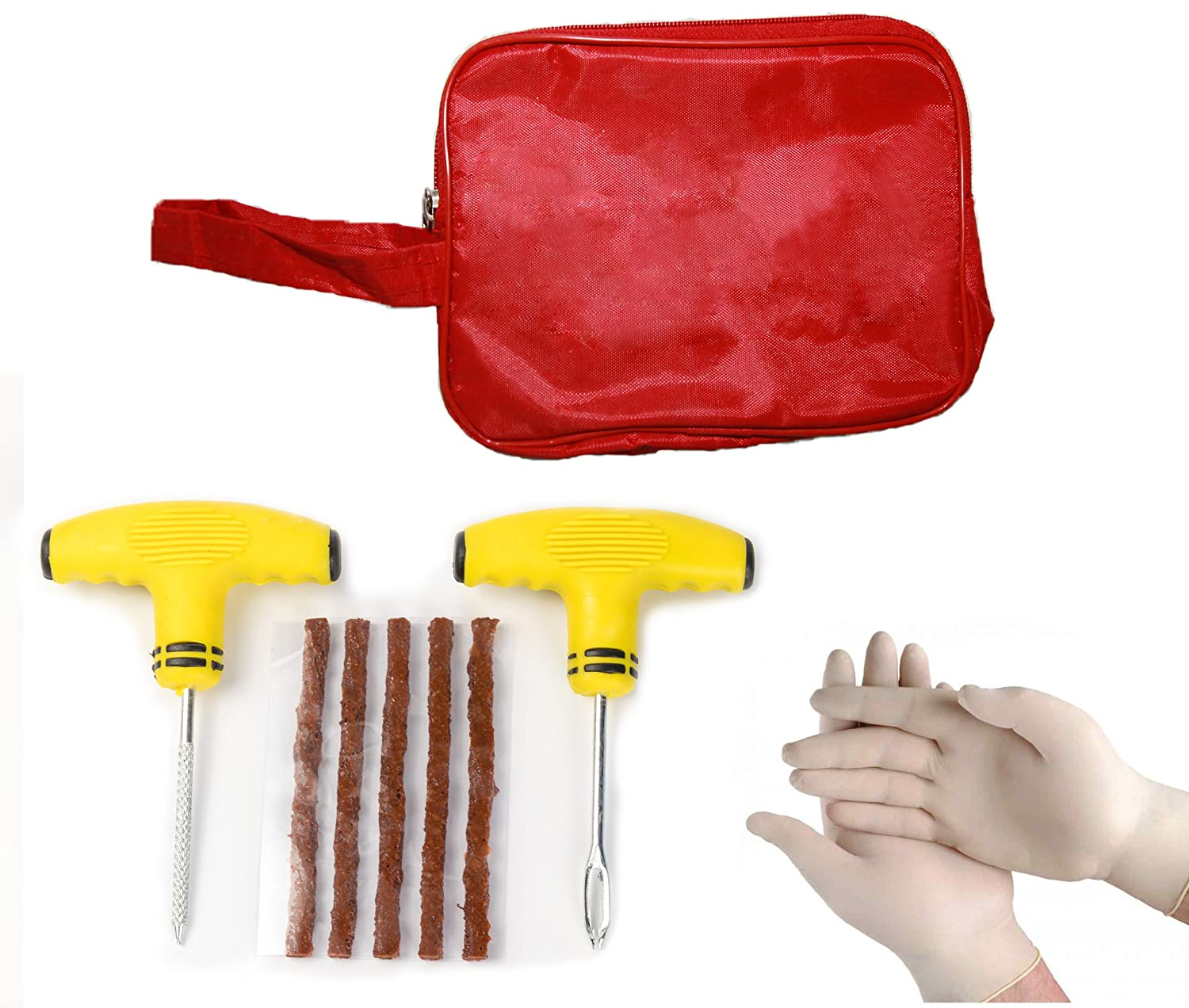 TYRE DOCTOR  ® TYRE PUNCTURE REPAIR KIT WITH SOFT HANDLE TOOLS TYRE DOCTOR ® .