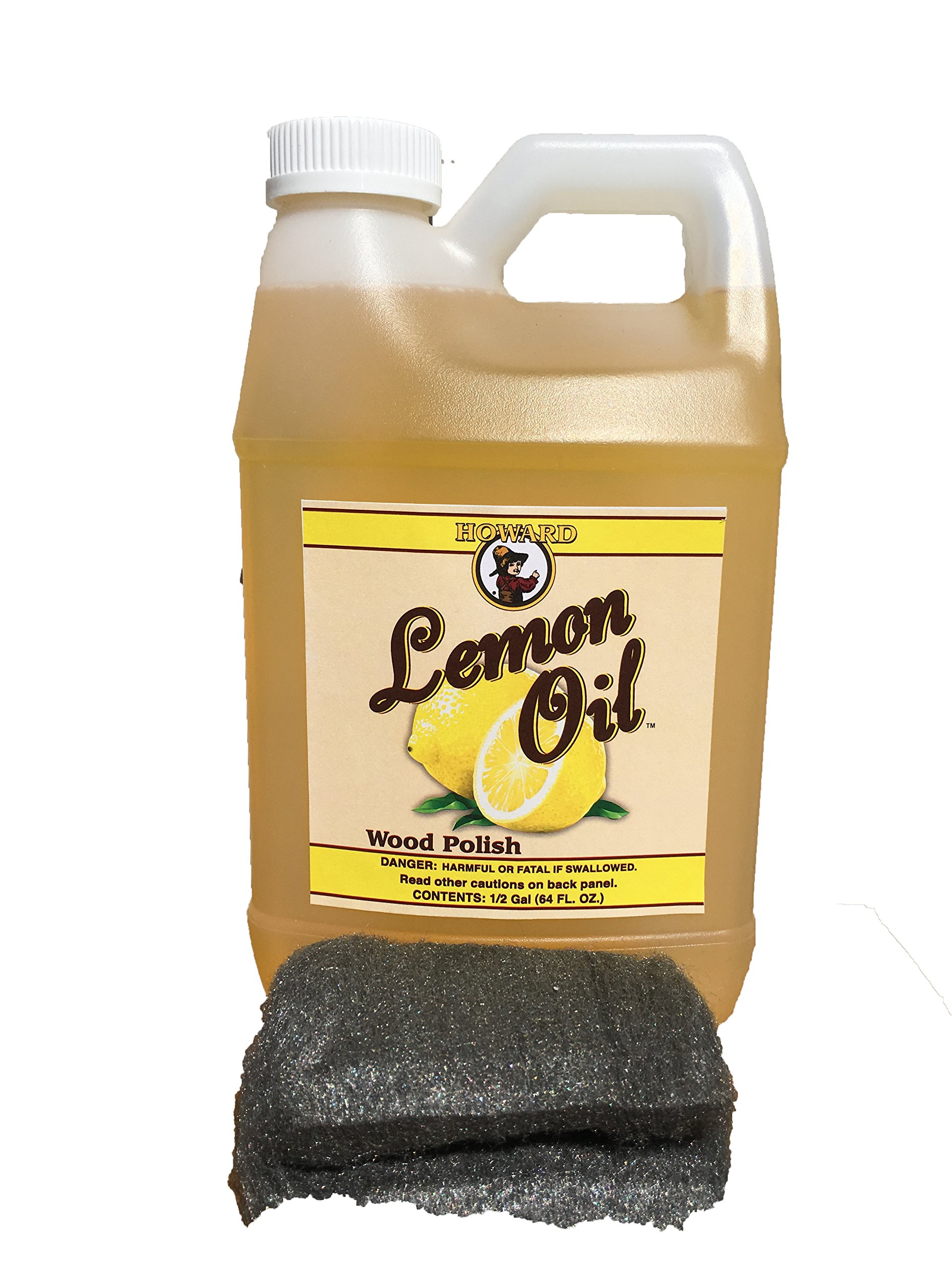 Howard Lemon Oil for Wood Half Gallon, Wood Furniture Cleaner and Wood Furniture Polish, Great for Restoring Wood Furniture and Polishing Wood by Howard Products