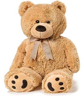 amazon com huge teddy bear tan toys games