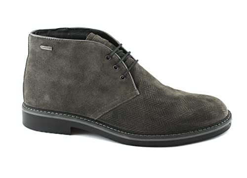 IGI&Co Zapatos de Antracita 86803 de Los Hombres del Ante de Los Botines de Encaje de Gore-Tex: Amazon.es: Zapatos y complementos