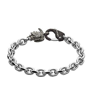 Diesel Men Stainless Steel Hand Chain Bracelet - DX1146040  Amazon.co.uk   Jewellery c5ab5bfc0238