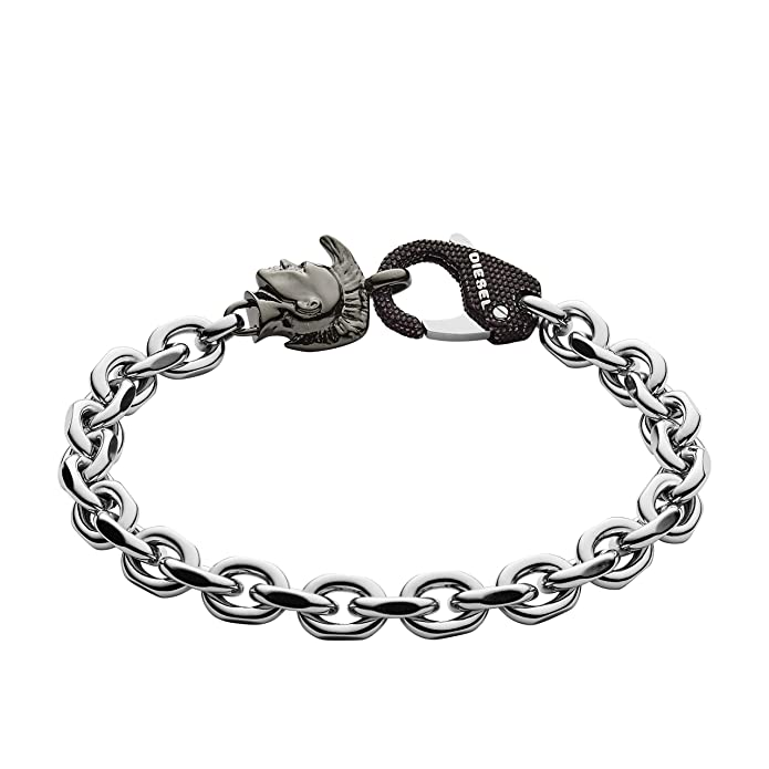9fdd30d5a109 Diesel Cadena pulsera Hombre acero inoxidable - DX1146040  Amazon.es   Joyería