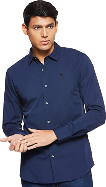 Tommy Hilfiger Original Stretch Camisa para Hombre: Amazon.es ...