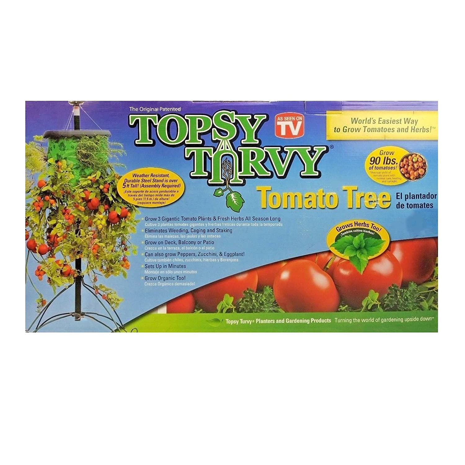 Tigerbox Topsy Turvy Upside Down Hanging Tomato Tree Planter