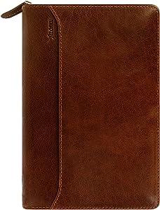 Filofax Lockwood Personal Zipped Organiser Cognac