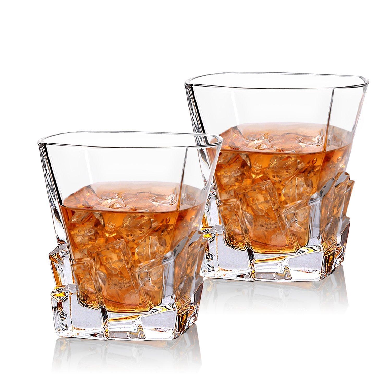 2 vasos de cristal para Whiski con efecto Iceberg.