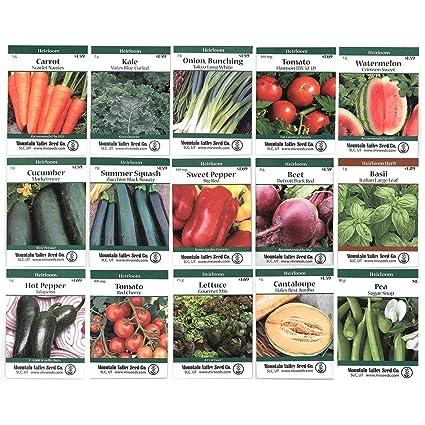 Amazoncom Heirloom Vegetable Garden Seed Collection Assortment