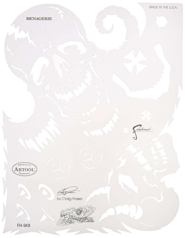 Iwata-Medea Artool Freehand Airbrush Templates, Son Of Skullmaster Set IWATA-MEDEA Inc FH SK9 SP