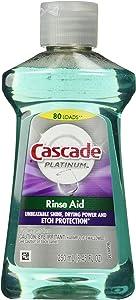 Cascade Dishwasher Rinse Aid Platinum, Rinse Agent, Regular Scent, 8.45 Fl Oz
