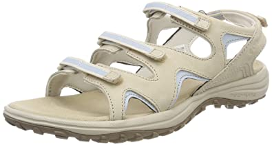 Columbia Damen Sandalen, SANTIAM Wrap, Beige (Ancient Fossil, Mirage), Größe: 41