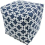 Majestic Home Goods Navy Blue Links Cube, Small