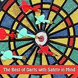 BETTERLINE Safety Dart Board Set with 6 Safe Soft