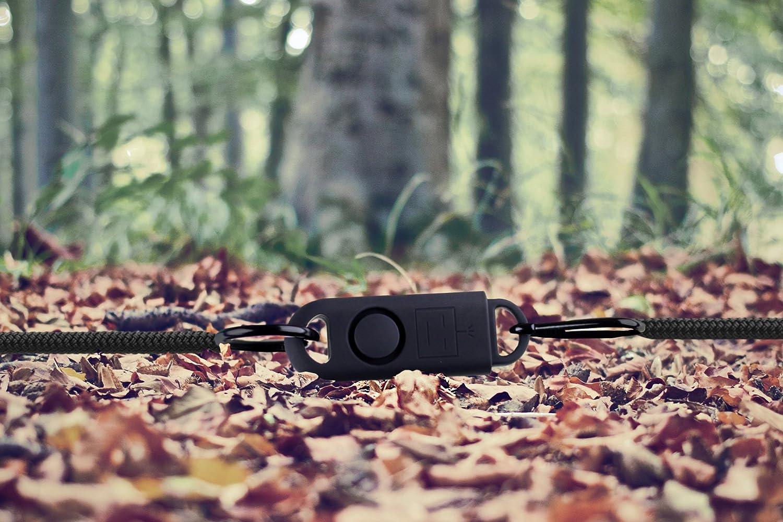 Basu ealarm SOS personnelle alarme sonore original Grenade Avec Métal Crochet nouveau