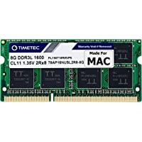 Timetec 8GB Compatible for Apple DDR3L 1600MHz PC3L-12800 for Mac Book Pro (Early/Late 2011,Mid 2012), iMac(Mid 2011…