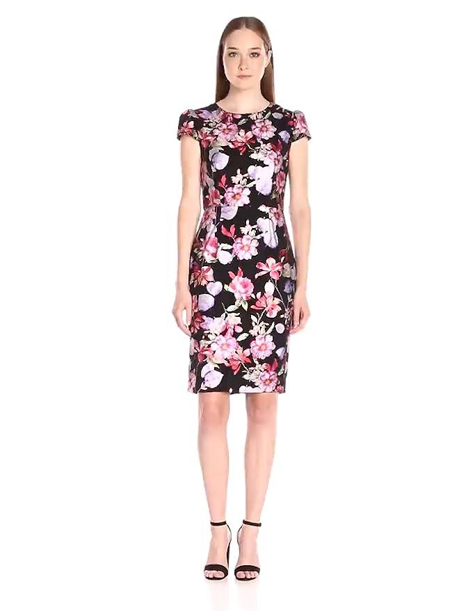 c94cdec4 Amazon.com: Betsey Johnson Women's Floral Foil Dress: Clothing